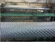 Fresh roll of chain link mesh