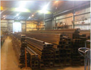 Structural steel fabrication department