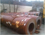 Steel coil inventory for our rolling and shaping mills